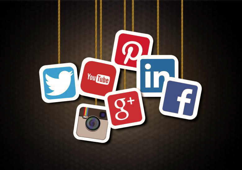 Icone delle principali piattaforme di condivisione social