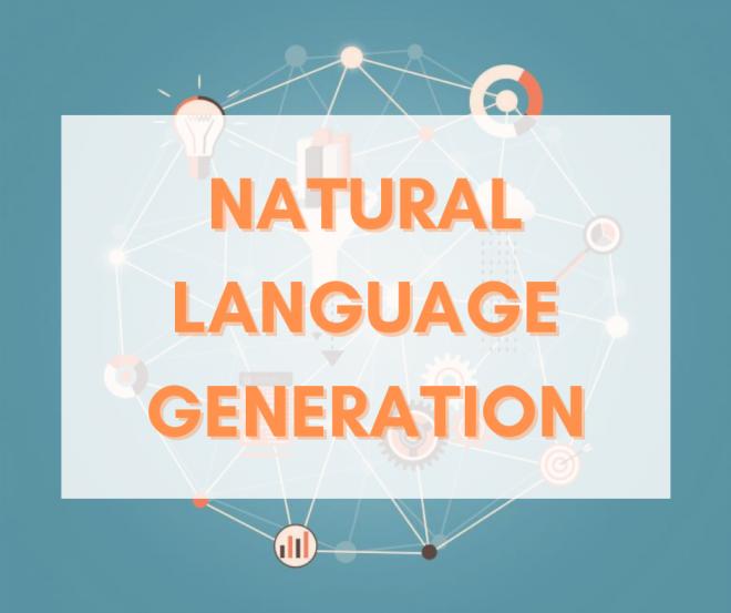 Un'immagine astratta con la scritta Natural Laguage Generation
